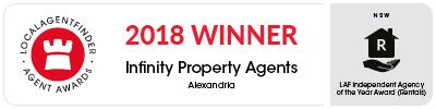 LocalAgentFinder Awards 2018 - Infinity Property Agents - Alexandria